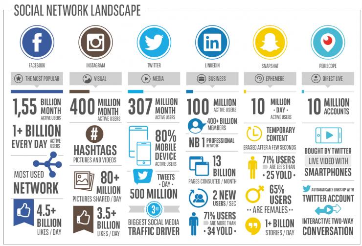 Social network landscape