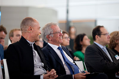 Sustainabilty experts including Bertrand Piccard and Sir David King were guestspeakers